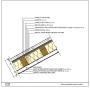 Particolare costruttivo del tetto con pannelli fotovoltaici.