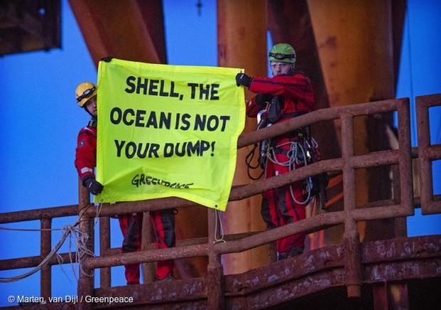 shell greenpeace protesta
