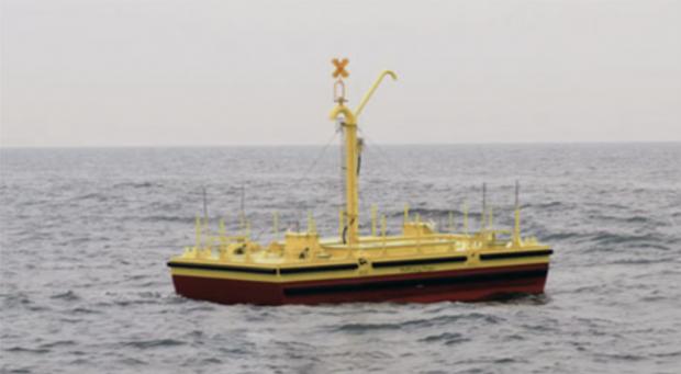 L'Inertial Sea Wave Energy Converter – Credit: Eni