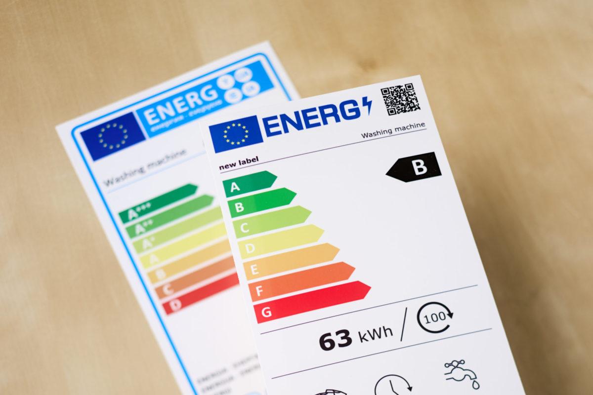 etichette per gli elettrodomestici