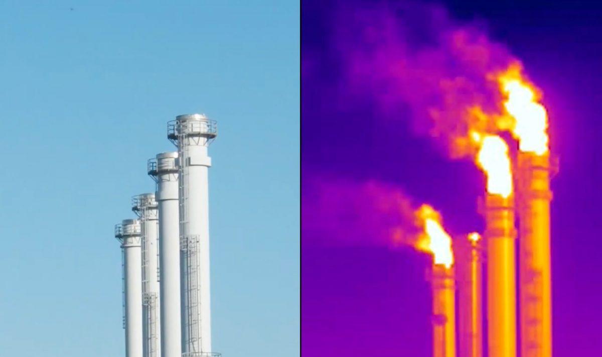 invisibili perdite di metano