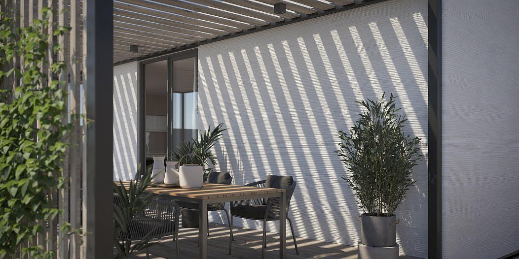 Quartiere net zero energy - Gli interni - courtesy of Mighty Building